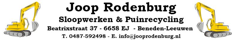 Joop Rodenburg Sloopwerken & Puinrecycling